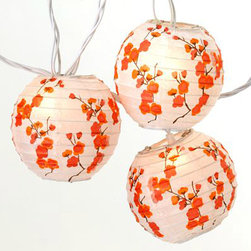 Cherry Blossom Lantern String Lights - Drape these strings around your space to create some festive mood lighting or just to add a little sparkle.