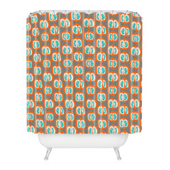 Mummysam Orange Pomegranate Shower Curtain