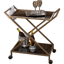 Dessau Home - Dessau Home Antique Gold Iron Bar Cart -