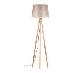 ParrotUncle - Tripod Base Floor Lamp with Gray Shade - Modern light never shone so bright. Crafted of sustainable wood, tripod base and a linen crash shade, this exquisite floor lamp is as functionally astonishing as it is aesthetically out-of-this-world – a true original to light up your life.