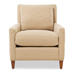 ecofirstart - Solvang Armchair - The Solvang is the classic, clean-lined armchair. Handcrafted from a sustainable Goodwood frame, its warm neutral hues and cushy, plant-filled cushions create a blank canvas apt for a bright accent pillow or a casually draped throw.