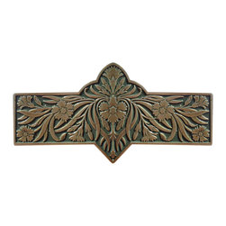 "Inviting Home - Dianthus Pull (antique brass-sage) - Hand-cast Dianthus Pull in antique brass-sage finish; 4-3/8""W x 2-2/8""H; Product Specification: Made in the USA. Fine-art foundry hand-pours and hand finished hardware knobs and pulls using Old World methods. Lifetime guaranteed against flaws in craftsmanship. Exceptional clarity of details and depth of relief. All knobs and pulls are hand cast from solid fine pewter or solid bronze. The term antique refers to special methods of treating metal so there is contrast between relief and recessed areas. Knobs and Pulls are lacquered to protect the finish. Alternate finishes are available. Detailed Description: The Dianthus knobs bring the sophisticated feel the antique homey feel to your cabinets. These pulls will be a great accent to old-world cabinets as well as bringing a polished feel to any antiqued furniture. Sometimes antique finishes end up looking a bit shabby and drabby but installing these knobs will make the cabinets pure chic. It would be a better choice to keep with Dianthus pulls if you would like to use them in conjunction with the pulls. Dianthus knobs are part of English Garden Hardware Collection. Reflecting the meticulous effort that produced these stunning gardens from a bygone era each of the knobs and pulls in this line features individually hand-cast and hand-finished design work. There are soft graceful roses and poppies (McKenna's Rose Knobs and Poppy Knobs) reminiscent of classic beauty and elegance. While other like Dianthus Pulls or Mountain Ash knobs feature crisply detailed styling with colorful background. Each knob's design marries Mother Nature and Craftsmanship into decorative hardware that adds beauty to any room of your home."