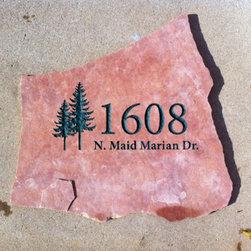 Address Stone Marker -