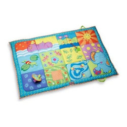 Tiny Love - Tiny Love Super Mat - The Tiny Love Super Mat is an extra large mat for baby which may be used inside or outdoors. Stimulating and colorful multiple texture mat has a stand alone mirror and a peek-a-boo flap to assist with baby's development.