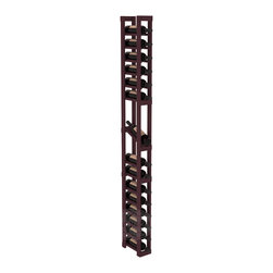 1 Column Display Row Cellar Kit in Pine with Burgundy Stain - Make your best vintage the focal point of your wine cellar. High-reveal display rows create a more intimate setting for avid collectors' wine cellars. Our wine cellar kits are constructed to industry-leading standards. You'll be satisfied. We guarantee it.