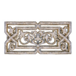 "Factory Direct Wall Decor - Cellar Grille - The Cellar Grille is a scroll designed wall decor item with a metal type texture. This item may be used as indoor home decor or garden decor. The dimensions of the piece are 36""W x 17""H x 2"" in Depth, and approximately weighs 10 lbs."