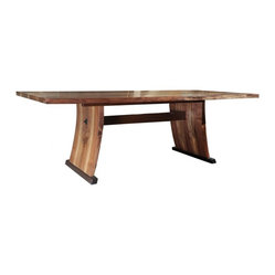 EcoFirstArt - Lerner Dining Room Table - If you understand the splendor of simplicity, this is your new table. Rustic yet refined in American walnut, is stripped down and clean-lined to bring aerodynamic essence to your dining space.