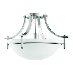 Kichler - Kichler 3678FL Olympia 1 Light Semi-Flush Indoor Ceiling Fixture - Product Features: