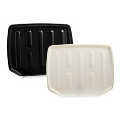 Rubbermaid Incorporated - Drainer Tray - Dish Drainer is extra deep for maximum capacity and is sturdy enough to hold stoneware plates securely.