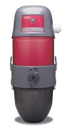 AIRVAC - AIRVAC AVR24000 RED SERIES BAGLESS CENTRAL VACUUM SYSTEM POWER UNITS - � High-efficiency, 2-stage filtration media for a cleaner, healthier home;� Power unit exhausts outside living area so dust & dirt don''t recirculate;� High-air watt rating while maintaining low operating noise;� Bottom access for easy removal of collected debris;� Intake ports on either side & bi-directional exhaust port allow more flexibility in installation;� 6gal waste capacity;� Requires use of specially made AirVac(TM)-specific PVC pipe�using normal PVC pipe will result in clogging &/or damage to the v