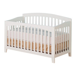 Atlantic Furniture - Atlantic Furniture Richmond Convertible Crib in a White Finish - Atlantic Furniture - Cribs - J98002 - Designed to adapt to the needs of a growing child Atlantic cribs convert from a crib to a day bed and then a full size bed. All cribs are manufactured with solid Eco-Friendly hardwood. Steel fasteners and solid hardwood construction exceeds industry standards for safety. Mortise and tennon side panel construction provides unsurpassed strength and durability. Our five step finishing process is non-toxic and lead free. Each crib has a 5 position adjustable mattress support system and converts to a full size bed with the addition of a bolt on metal bed frame.