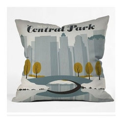 "DENY Designs - Anderson Design Group Central Park Snow Throw Pillow - Wanna transform a serious room into a fun, inviting space? Looking to complete a room full of solids with a unique print? Need to add a pop of color to your dull, lackluster space? Accomplish all of the above with one simple, yet powerful home accessory we like to call the DENY Throw Pillow! Features: -Anderson Design Group collection. -Material: Woven polyester. -Sealed closure. -Top and back color: Print. -Spot treatment with mild detergent. -Made in the USA. -Closure: Concealed zipper with bun insert. -Small dimensions: 16"" H x 16"" W x 4"" D, 3 lbs. -Medium dimensions: 18"" H x 18"" W x 5"" D, 3 lbs. -Large dimensions: 20"" H x 20"" W x 6"" D, 3 lbs."