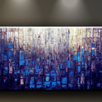 Matthew's Art Gallery - Oil Painting Abstract Art on Canvas Heavy Texture Deep Blue - The Painting:  Deep Blue
