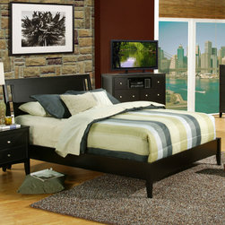 Alpine Furniture - Vista Queen Low Footboard Sleigh Bed - Vista Queen Low Footboard Sleigh Bed