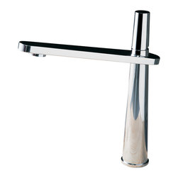 Maestrobath - Cross Fancy Kitchen Faucet, Brushed Nickel - This luxury single handle kitchen faucet with its modern look will turn heads in any kitchen. The high end Italian faucet can accommodate any type of kitchen sink. The contemporary faucet is easy to install, keep clean and maintain. This ultra-modern faucet is available in chrome and brushed nickel finish. Whether your decorating style is traditional or modern, Maestrobath products will compliment your home improvement project and add a lavish, luxurious feel while protecting your health, safety and the environment.