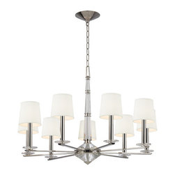 Hudson Valley Lighting - Hudson Valley Lighting 6619 Porter 9 Light Single Tier Chandelier - Product Features: