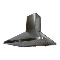 Cavaliere - Cavaliere-Euro 30-inch Wall-mount Range Hood - Give your kitchen a functional yet elegant update with a range hoodOver-range hood from Cavaliere-Euro provides ventilation and lightHood features wall-mount installation design