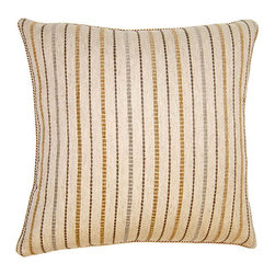 Square Feathers - Sahara Pillow, Stripe Pillow - The Sahara concept is exotic. Bringing patterns you wouldn't usually see on a pillow. Both stylish and bold.