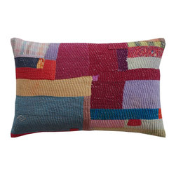 Pakistani Jogi Rali Square Patch by John Robshaw - This gorgeous pillow reminds me of a Gee's Bend quilt, though it comes from halfway around the world from there.