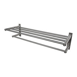 "BOANN - BOANN Solid T304 Stainless Steel 22"" Towel Rack with Towel Bar - The BOANN 22"" Towel Rack with Towel Bar is the perfect accompaniment to any Boann Faucet or accessory. Add a lavish and sophisticated design to your bathroom with this stainless steel towel rack. It supports any full and half-size towel and is designed to last due to its stainless steel finish, which is resistant to corrosion and tarnish."
