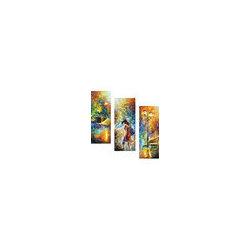 Leonid Afremov - Aura Of Autumn Set Of 3 Oil Painting On Canvas By Leonid Afremov - Oil painting on canvas