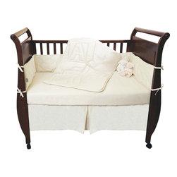 Organic Crib Set 4-Piece. Comforter, Bumper Pad, Crib Sheet, Skirt by Natura -