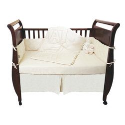 Organic Crib Set 4-Piece. Comforter, Bumper Pad, Crib Sheet, Skirt by Natura -