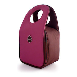Milkdot - Stöh Lunch Tote, Plum - Stöh is a modern yet practical solution for a lunch bag that combines clean and simple design with features perfect for stowing your favorite food, drink and utensils and cool enough for the whole family to carry too. Sleek and timeless, Stöh is for all-ages. Lightweight and folds flat for easy storage after use.