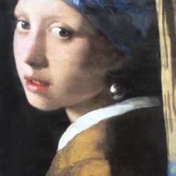 Johannes Vermeer Girl with a Pearl Earring Street Banner Wall Art - From the de Young museum an authentic, limited edition street banner to display in your home as spectacular wall art. Tracy Chevalier may have brought Girl with a Pearl Earring into popular consciousness with an historical novel by the same name, but actually very little is known about this painting and Johannes Vermeer's work in general. The painting is a tronie--a painted bust of a sitter who was not intended to be identifiable. A style popularized by Rembrandt in 1630, a tronie, which means face, often focuses on a unique facial expression or an exotic costume...or say, a pearl earring. Girl with a Pearl Earring was featured on the de Young Museum's banner to promote its exhibition that featured this and other masterpieces of the Dutch Golden Age belonging to the Royal Picture Gallery Mauritshuis in The Hague.