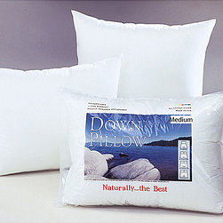 None - White Cloud Medium Density Down Pillow - Enjoy a relaxing night's sleep on a new pillowBedding accessory is full of luxurious white down in a medium density-fillPillow's outer is made of 230 thread count 100-percent cotton