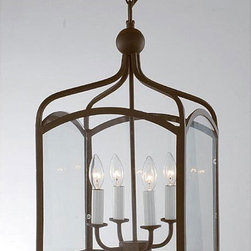 Antique Copper 4-Light Chandelier - At about $150 and almost 24 inches tall, this lantern gives you a lot of bang for your buck. I've seen similar versions sold at other home decor chains for nearly twice the price.