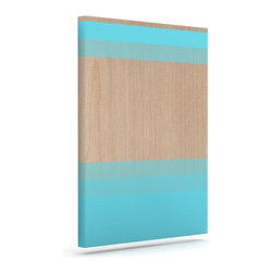 """Kess InHouse - Brittany Guarino """"Art Blue"""" Aqua Wood Wrapped Art Canvas (12"""" x 10"""") - Bring your outdoor patio to life with this artistic outdoor canvas wrap featuring gorgeous artwork by KESS InHouse. These canvases are not only easy to hang and remove but also are the perfect addition to your patio collection. These canvases are stretched around a wooden frame and are built to withstand the elements and still look artistically fabulous. Decorating your patio and walls with these prints will add the splash of art and color that is needed to bring your patio collection together! With so many size options and artwork to choose from, there is no way to go wrong with these KESS Canvas Wraps!"""