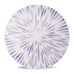 Oxford Porcelains - Karim Rashid Dust Dinner Plate - Disco motif meets spirograph designs with this space-age Karim Rashid dinner plate. When you're done with your meal, these plates would make great spinners, but be careful — you won't want to break them.