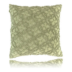 Pine Cone Hill - candlewick rosemary pillow (18x18) - Constructed using a classic stitching technique, the candlewick bedding basics from Pine Cone Hill offer an intriguing texture over soft 100% cotton. Mix & match from 12 rich colors for the perfect demure accent or bold centerpiece to a cozy, vintage-inspired bedroom.