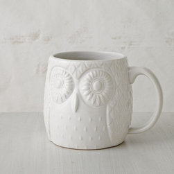 Figurative Owl Mug - Gather a flock of these little owl mugs on a tray next to the stove top, and let guests serve their own hot toddies.