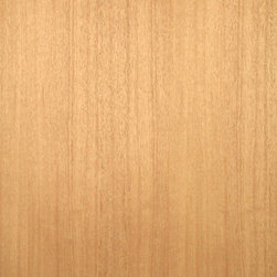 Quartered African Mahogany Veneer. - Quarter cut African mahogany veneer is a nice pinkish brown to reddish brown medium grain wood with excellent staining and finishing qualities. Available in a variety of backers and sizes.