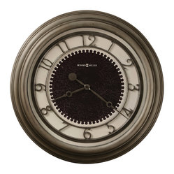 "Howard Miller - Howard Miller Antique Nickel Large 25-1/2"" Wall Clock 