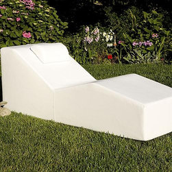Frontgate - Wave Chaise - Constructed of lightweight, structural foam with WeatherTex &#8482 marine grade vinyl exterior. Contemporary and clean chill white hue. Strong structural foam core is light enough to move from the pool to a nighttime gathering on the beach. Chlorine, sun, and salt water won't decrease any of its charms. Easy-care pool furniture can be sprayed with a hose to clean. Soak up some rays on our Chaise Lounges by La Fete. Available in a variety of shapes and sizes, each comfortable chaise fits seamlessly into any outdoor decor. Have fun in the sun during the day, then spend an evening lounging beneath the stars on these versatile chaise lounges.Constructed of lightweight, structural foam with WeatherTex marine grade vinyl exterior. . . . . Constructed of 100% virgin materials, 95% recyclable by volume.