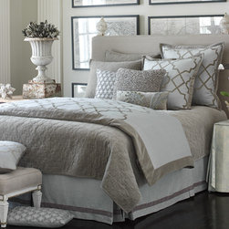 Alhambra Duvet Cover, Mist/Verde Gris - Gray is the new neutral, and I love this soft greige look.