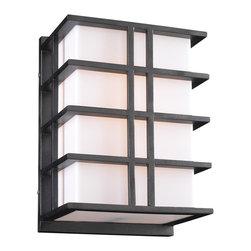 PLC Lighting - PLC 1 Light Outdoor Fixture Amore Collection 16646/CFL BZ - -Finish: Bronze