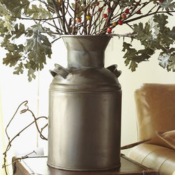 Rustic Milk Tin - This is a great addition to fall decor. I love the galvanized look when paired with a pretty floral arrangement. I would use this on my buffet while entertaining during the holidays.