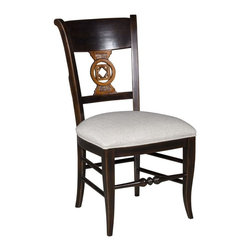 EuroLux Home - New French Provincial Side Chair Black - Product Details
