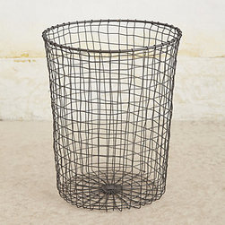 Acreage Storage Collection, Black - I love the industrial look of this simple wire basket. It's a great way to store anything from logs for the fireplace to recyclables.