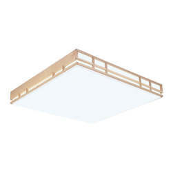 AFX Lighting - AFX Lighting MCM2U3R8 Maple Wood MC Series Linear Flush Mount - AFX Lighting MCM2U3R8 Maple Wood MC Series Linear Flush Mount