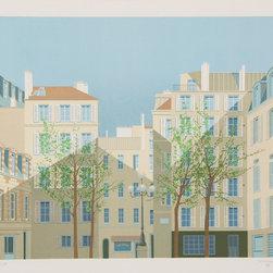 Manolo Tarazona, Paris - La Place de Furstemberg, Lithograph - Artist:  Manolo Tarazona, Spanish (1937 - )