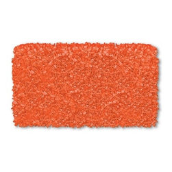 Tangerine Shaggy Raggy Rug - Add some texture with this Tangerine Shaggy Raggy Rug that is made of 100-percent-cotton, hand-tied strips of jersey.