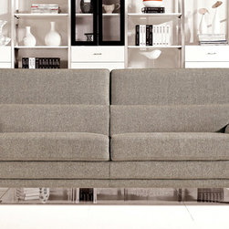 Zuri Furniture - Grey Korben Sofa and Love Seat Set - Offering a contemporary take on a Mid Century modern style, The Korben Sofa Set adds a classy touch of flare to any room. The set is packaged to include both sofa and loveseat for extra value and is available only in the colors shown.