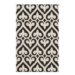 Jill Rosenwald - Jill Rosenwald ZUN1048-58 Zuna Hand Tufted Wool Rug - Delicate, sophisticated lattice pattern rugs with colors specifically chosen to coordinate with today's home furnishings trends; the creator Jill Rosenwald is the top designer known for beautifully colored, hand-made ceramics. The Zuna pattern, hard-twist texture, and hand-carved details beautifully combine to highlight its simplicity and sophistication.