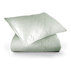 "Inhabit - Spa Quilted Coverlet in Mist - Crafted from luxurious 320 thread count, combed cotton sateen, the Spa Quilted Coverlet in Mist will be a wonderful addition to your bedding collection. With a unique quilted design pattern, this quilt combines a soft green hue with intricate stitching for a modern look. Providing you with comfort and style in one, this coverlet will be a decorative and useful element in your home. Features: -320 thread count -Combed cotton sateen -Matching shams sold separately -Available in Full / Queen and King sizes -Full / Queen Dimensions: 92"" W x 88"" D -King Dimensions: 106"" W x 92"" D -Please Note: Most Inhabit items are made to order, so items can not be cancelled more than 24 hours after orders are placed Care and Maintenance: Machine wash on gentle, no bleach, tumble try on low. Press if needed."