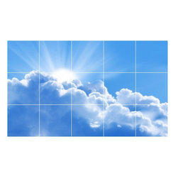 Picture-Tiles, LLC - Sky Clouds Photo Wall Back Splash Tile Mural  18 x 30 - * Sky Clouds Photo Wall Back Splash Tile Mural 1446